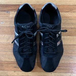 Coach Jayme signature suede logo black sneakers 8